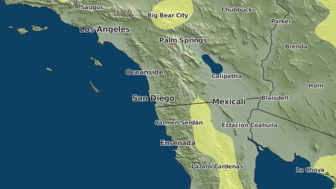 Map Of Julian California.3 Day Severe Weather Outlook Julian California The Weather Network