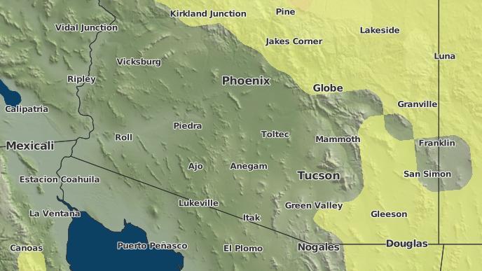 Map Of Eloy Arizona.3 Day Severe Weather Outlook Eloy Arizona The Weather Network