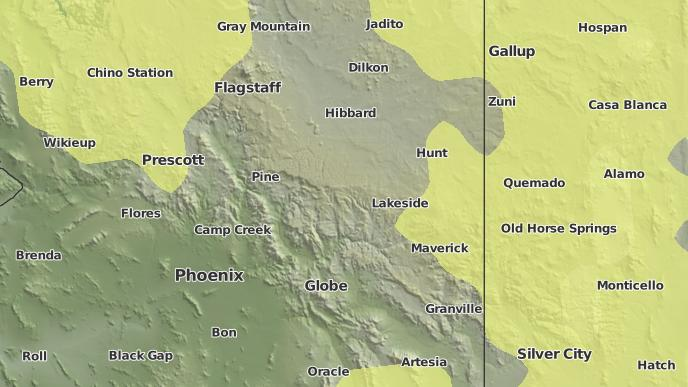 Map Of Young Arizona.3 Day Severe Weather Outlook Young Arizona The Weather Network