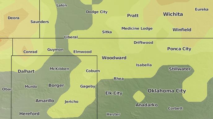 for Woodward, Oklahoma