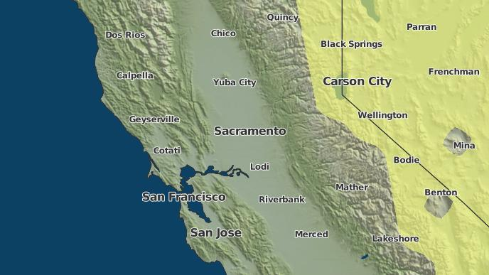 Map Of California Weather.3 Day Severe Weather Outlook Plymouth California The Weather Network