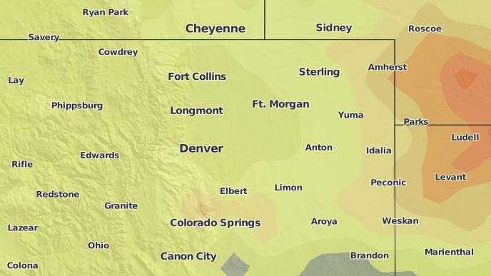 Strasburg Colorado Map.3 Day Severe Weather Outlook Strasburg Colorado The Weather Network