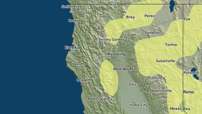 3-Day Severe Weather Outlook: Igo, California - The Weather Network