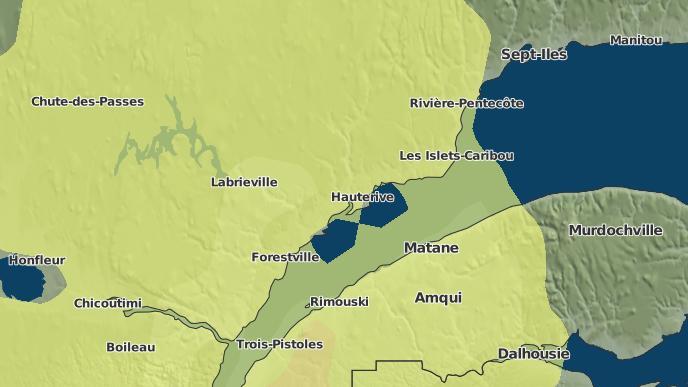 pour Baie-Comeau, Québec