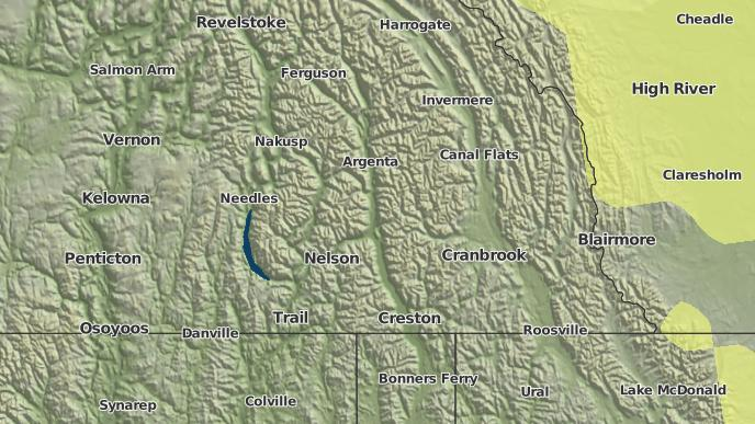 for Central Kootenay, British Columbia