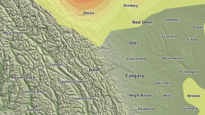 pour Benchlands, Alberta