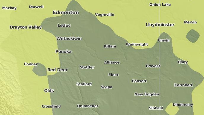 pour Donalda, Alberta