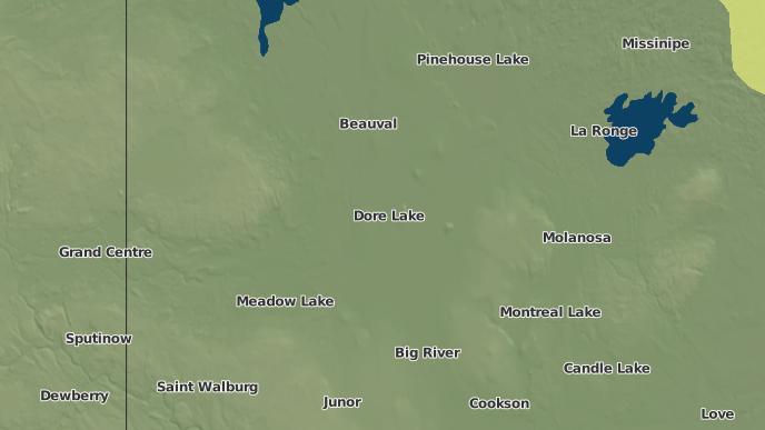 pour Doré Lake, Saskatchewan