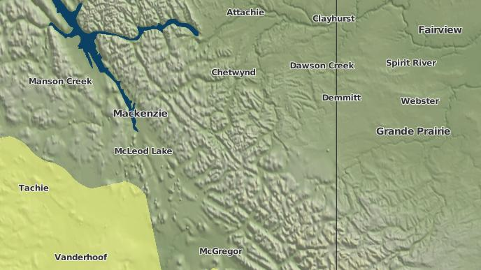 for Tumbler Ridge, British Columbia