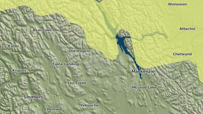 for Manson Creek, British Columbia