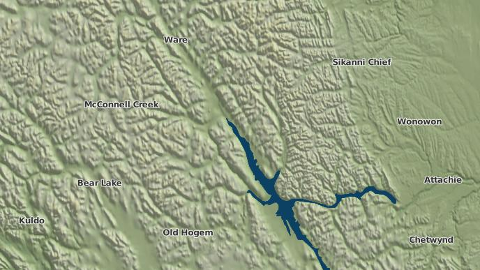 for Ingenika Point, British Columbia