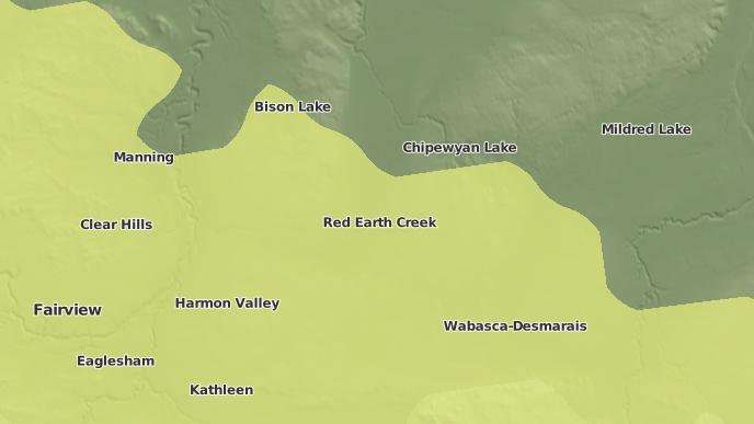 pour Trout Lake, Alberta