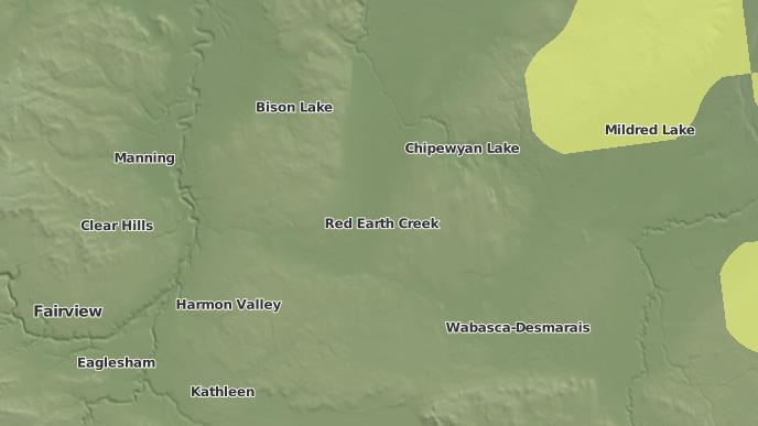 pour Red Earth Creek, Alberta