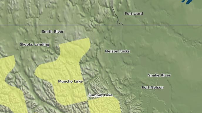 pour Nelson Forks, Colombie-Britannique