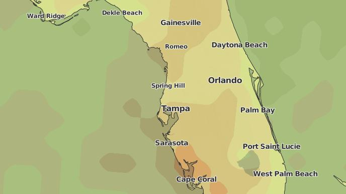 Trinity Florida Map.3 Day Severe Weather Outlook Trinity Florida The Weather Network