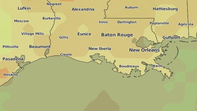 New Iberia Louisiana Map.3 Day Severe Weather Outlook New Iberia Louisiana The Weather