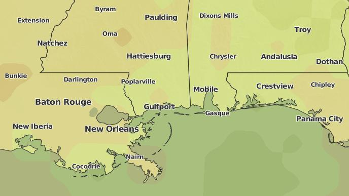 3-Day Severe Weather Outlook: Gulfport, Mississippi - The Weather ...