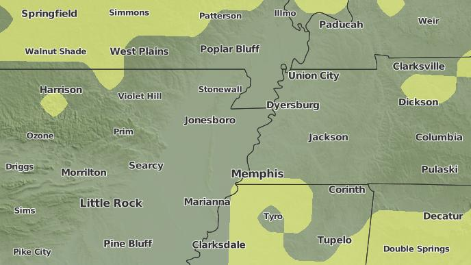 3 Day Severe Weather Outlook Osceola Arkansas The Weather Network