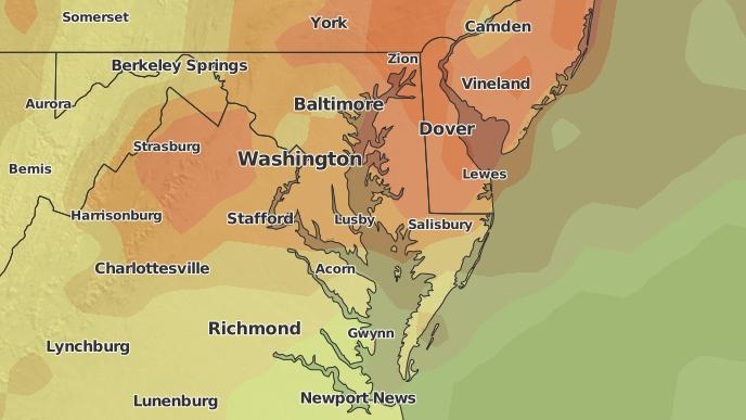 Map Of California Md.3 Day Severe Weather Outlook California Maryland The Weather Network
