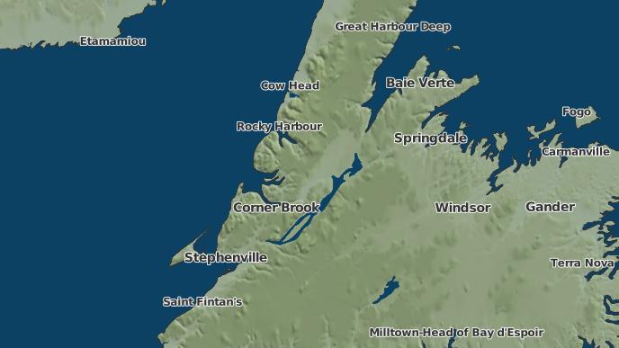 for Deer Lake, Newfoundland and Labrador