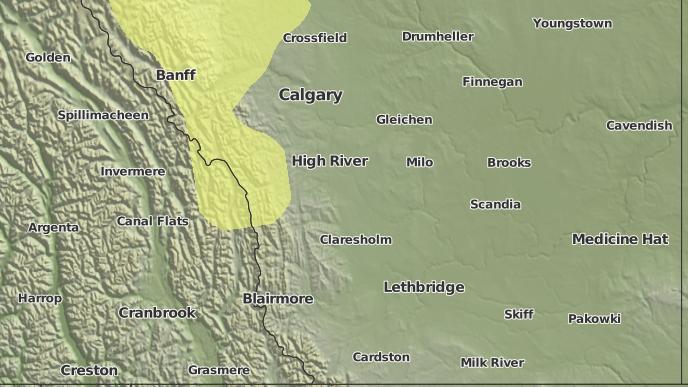 pour Vulcan, Alberta