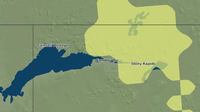 pour Fond du Lac I.R. 233, Saskatchewan