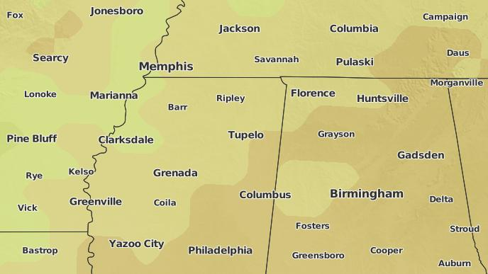 3-Day Severe Weather Outlook: Tupelo, Mississippi - The