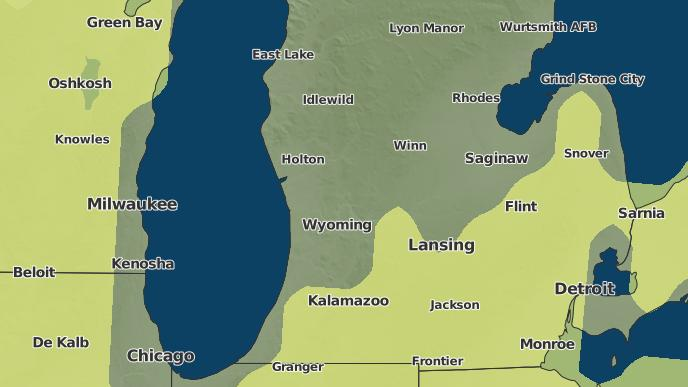 Belding Michigan Map.3 Day Severe Weather Outlook Belding Michigan The Weather Network