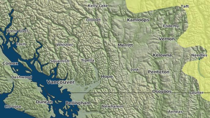 for Gwen Lake 3, British Columbia