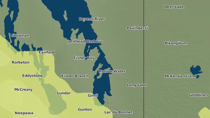for Calders Dock, Manitoba