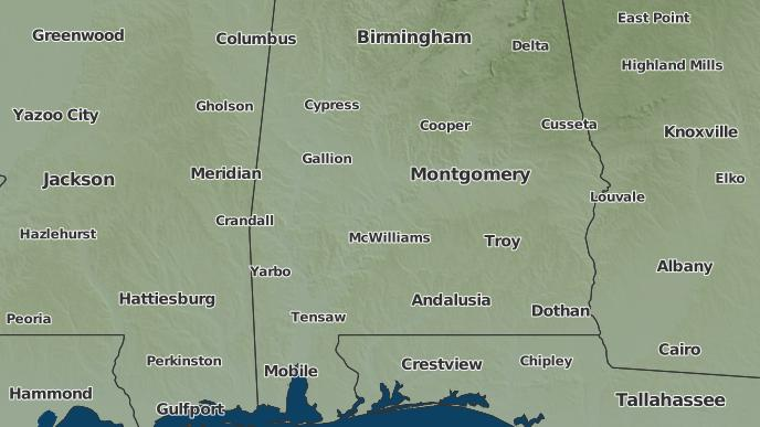 Tyler Weather Map.3 Day Severe Weather Outlook Tyler Alabama The Weather Network