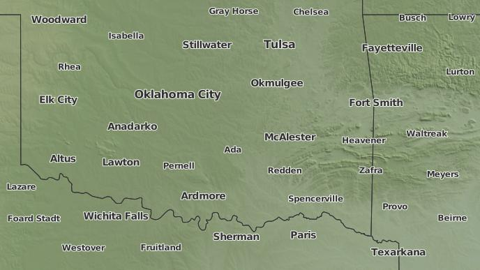 3-Day Severe Weather Outlook: Tupelo, Oklahoma - The Weather Network
