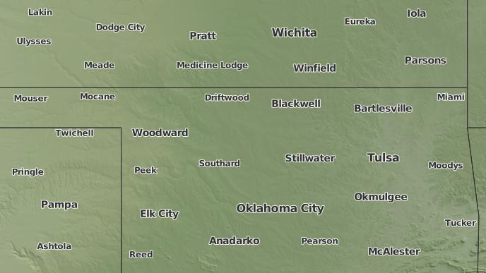 Oklahoma Wind Map.3 Day Severe Weather Outlook Okeene Oklahoma The Weather Network