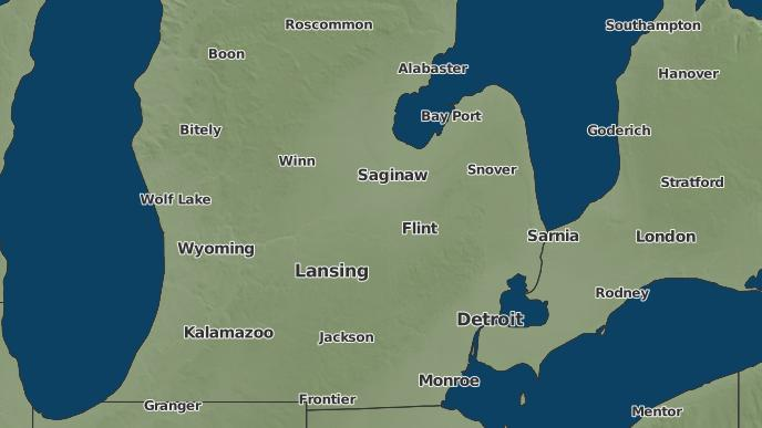 Ovid Michigan Map.3 Day Severe Weather Outlook Ovid Michigan The Weather Network