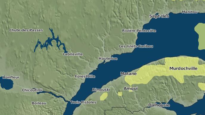 pour Rivière-Bersimis, Québec