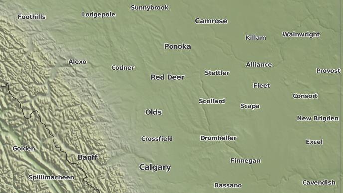 pour Trochu, Alberta