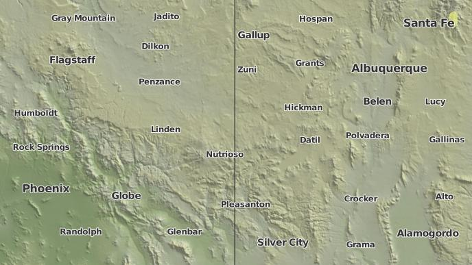Concho Arizona Map.3 Day Severe Weather Outlook Concho Arizona The Weather Network