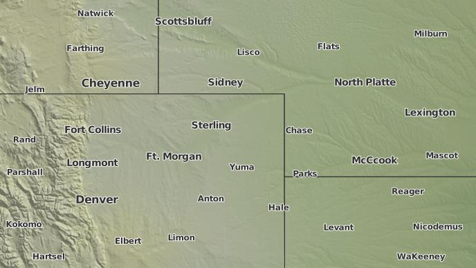 Akron Colorado Map.3 Day Severe Weather Outlook Akron Colorado The Weather Network