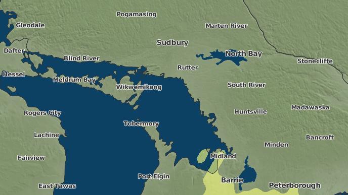 pour Georgian Inlet, Ontario