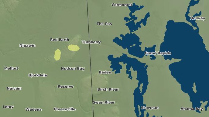 pour Overflowing River Sapotaweyak Cree Nation Indian Reserve, Manitoba
