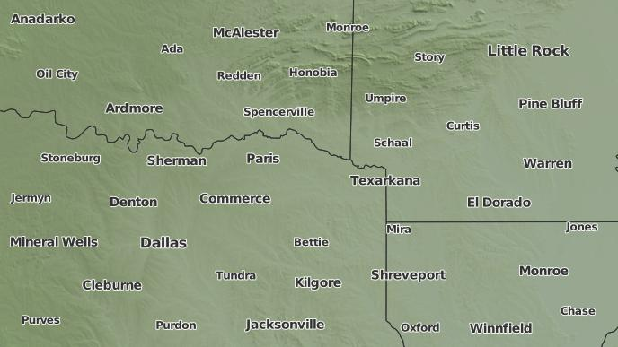 Kalb Weather Map.3 Day Severe Weather Outlook De Kalb Texas The Weather Network
