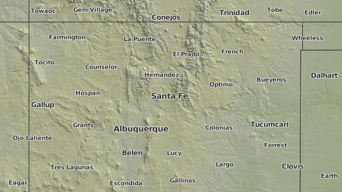 Weather Map Of New Mexico.3 Day Severe Weather Outlook Santa Fe New Mexico The Weather Network