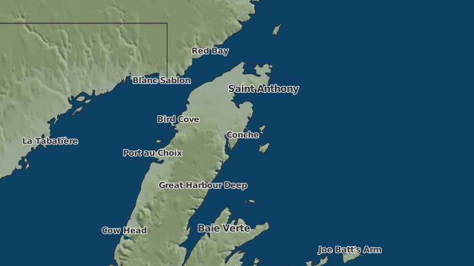 for Roddickton, Newfoundland and Labrador